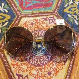 Chloe Gold & Brown Iconic 70s Sunglasses